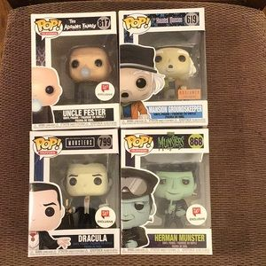 Exclusive Lot of 4 Funko Pops